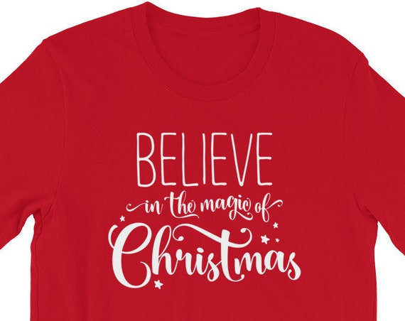 KIDS -Believe in the Magic of Christmas - Red and Green - Youth Unisex Crew Neck