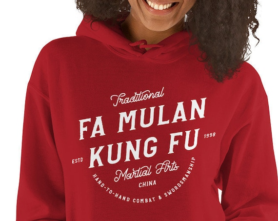 Fa Mulan Kung Fu Inspired Red Sweatshirt