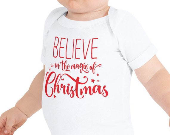 Believe in the Magic of Christmas Baby Bodysuit One Piece - FREE SHIPPING