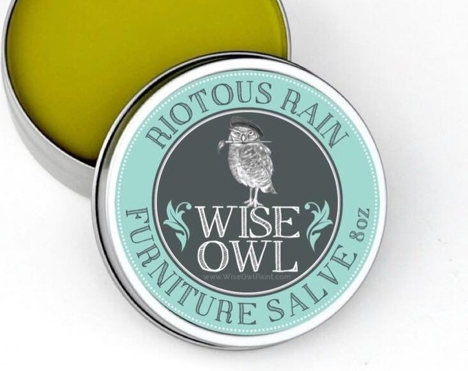 INTRO SALE! Wise Owl Riotous Rain Natural Furniture Salve Furniture Wax - Scented Wax - Free Shipping - Free Shipping