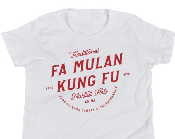 Fa Mulan - Martial Arts Karate Inspired Red Toddler/Youth Crew Neck - FREE SHIPPING