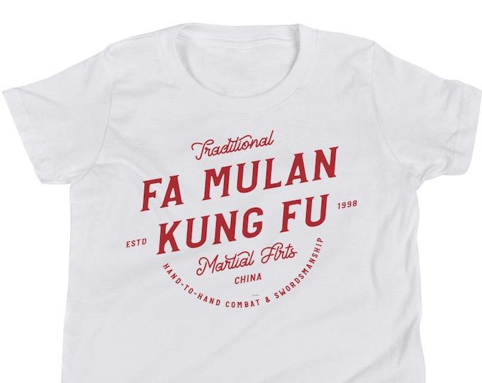 Fa Mulan - Martial Arts Karate Inspired Red Toddler/Youth Crew Neck - FREE SHIPPING