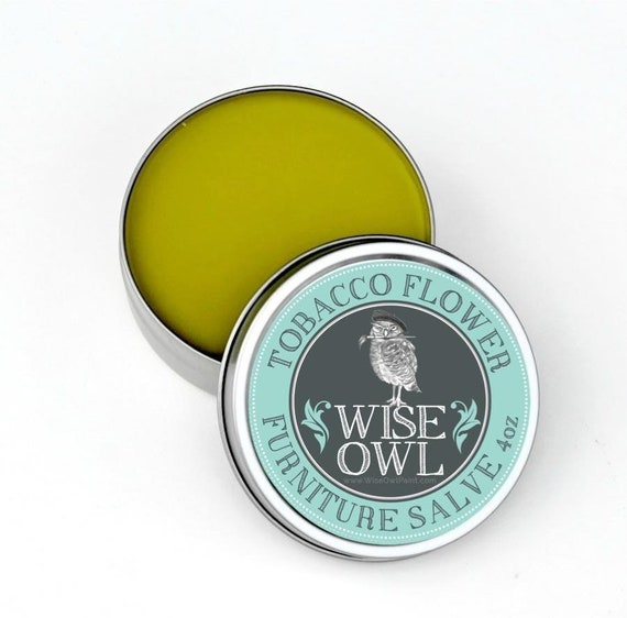 INTRO SALE! Wise Owl Tobacco Flower Natural Furniture Salve Furniture Wax - Scented Wax - low flat rate shipping