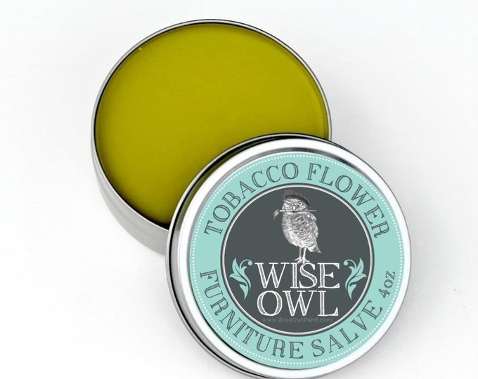 INTRO SALE! Wise Owl Tobacco Flower Natural Furniture Salve Furniture Wax - Scented Wax - Free Shipping