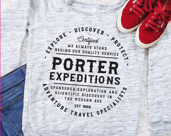 Porter Expeditions - Jane Porter and Tarzan Inspired Adventure Sweatshirt