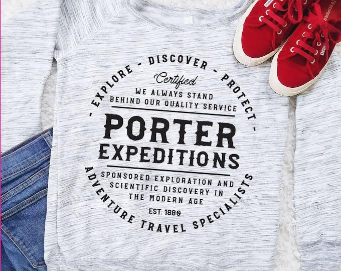 Porter Expeditions - Jane Porter and Tarzan Inspired Adventure Sweatshirt
