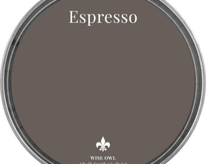 INTRO SALE - Espresso (Warm Dark Brown) - Wise Owl Chalk Synthesis Paint - Free Shipping