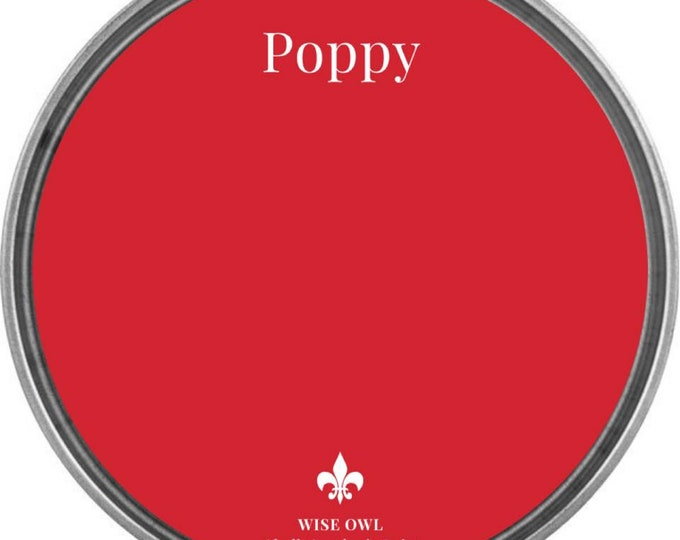 INTRO SALE - Poppy (Brigt Red) - Wise Owl Chalk Synthesis Paint - Free Shipping