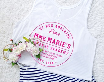 Mmm. Marie's Defense Academy  Aristocat Marie Cat Inspired Cropped Tank Top