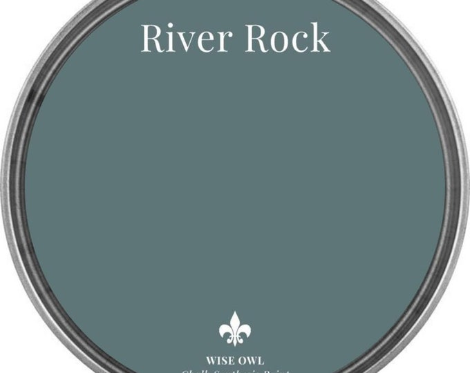 INTRO SALE - River Rock (Cool Blue Gray) - Wise Owl Chalk Synthesis Paint - Free Shipping