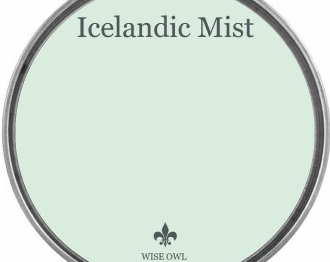 INTRO SALE - Icelandic Mist (Pastel Green-Blue) - Wise Owl Chalk Synthesis Paint - Free Shipping