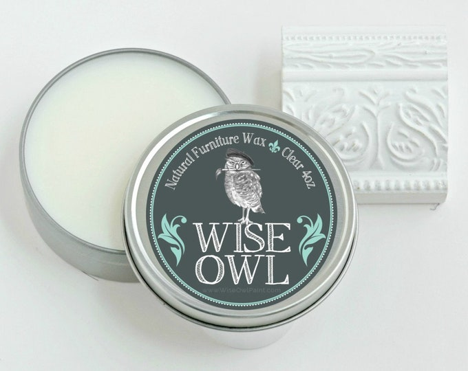 INTRO SALE! Wise Owl Natural Furniture Wax - Clear - Free Shipping