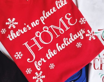 Home for the Holidays Christmas or Hanukkah WDW or DL Crew Neck Shirt