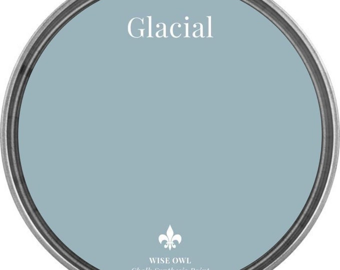 INTRO SALE - Glacial (Light Gray Blue) - Wise Owl Chalk Synthesis Paint - Free Shipping