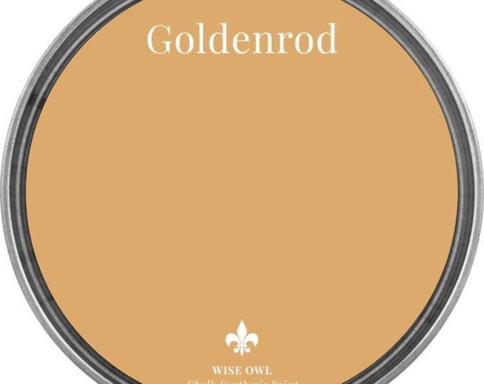 INTRO SALE - Goldenrod (Deep Mustard Yellow) - Wise Owl Chalk Synthesis Paint - Free Shipping