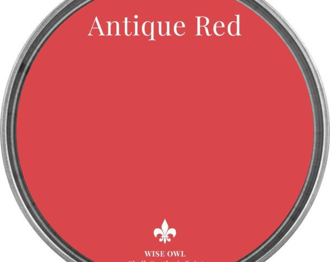 INTRO SALE - Antique Red - Wise Owl Chalk Synthesis Paint - Free Shipping