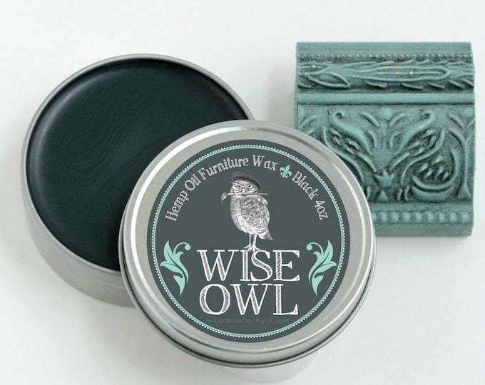 INTRO SALE! Wise Owl Natural Hemp Oil Furniture Wax - Black - Free Shipping