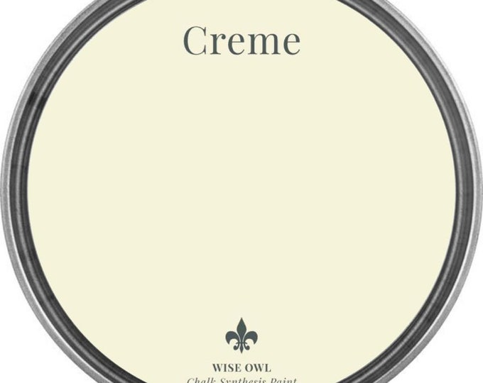 INTRO SALE - Crème (French Cream White) - Wise Owl Chalk Synthesis Paint - Free Shipping
