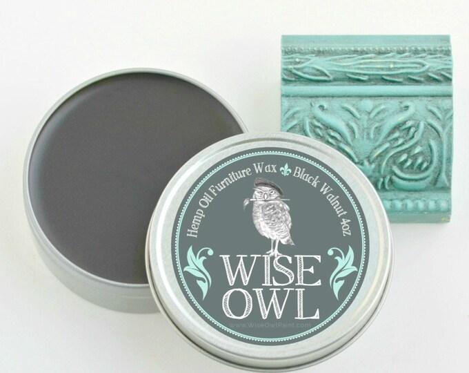 INTRO SALE! Wise Owl Natural Hemp Oil Furniture Wax - Black Walknut - Free Shipping