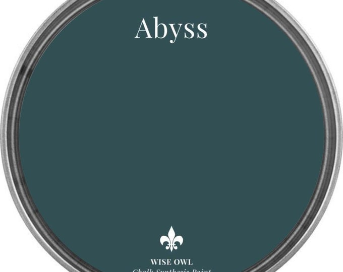 INTRO SALE - Abyss (Deep Blue Green) - Wise Owl Chalk Synthesis Paint - Free Shipping