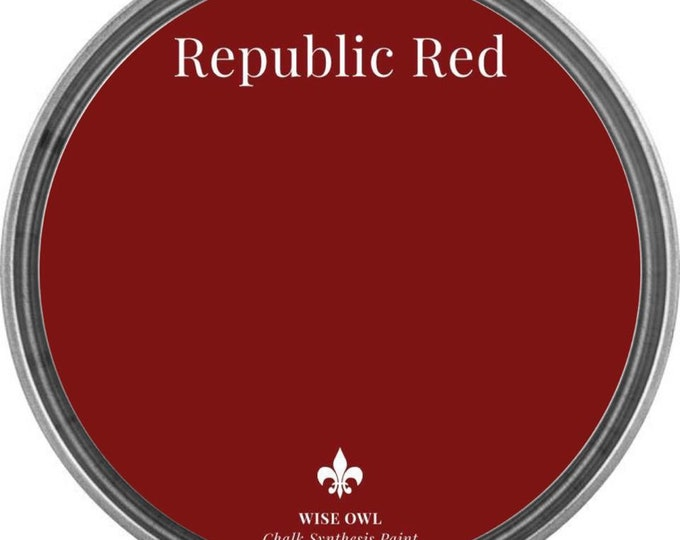 INTRO SALE - Republic Red (Deep Red) - Wise Owl Chalk Synthesis Paint - Free Shipping