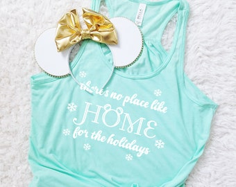 Home for the Holidays Christmas or Hanukkah WDW or DL Flowy Tank Top
