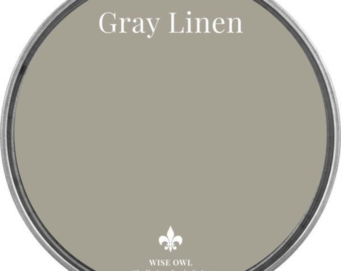 INTRO SALE - Gray Linen (Gray Beige) - Wise Owl Chalk Synthesis Paint - Free Shipping