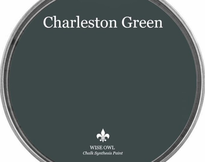 INTRO SALE - Charleston Green (Dark Black-Green) - Wise Owl Chalk Synthesis Paint - Free Shipping