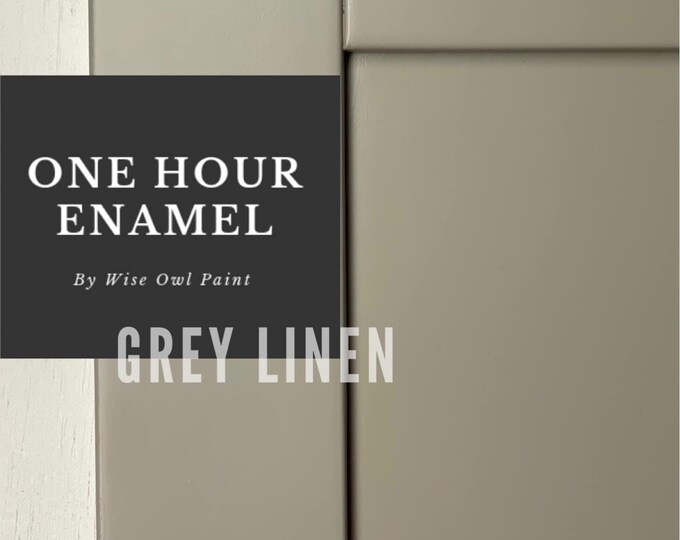 INTRO SALE! Gray Linen (Cool Beige) Wise Owl One Hour Enamel Paint - Free Shipping