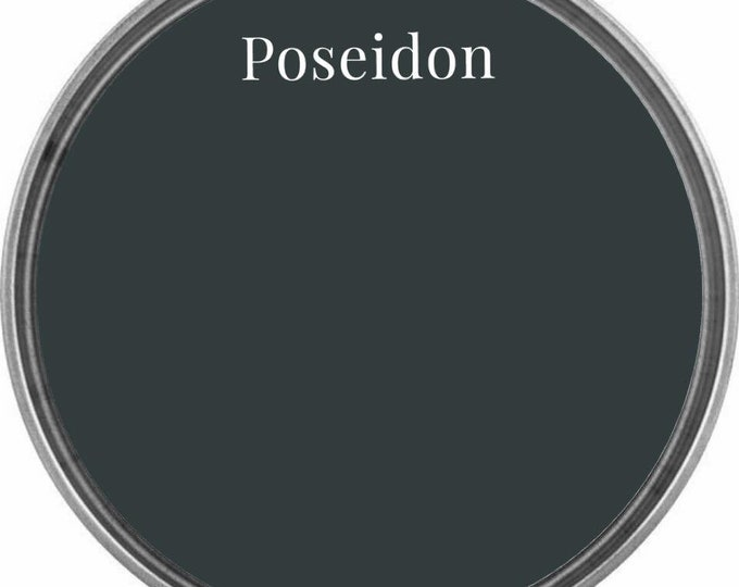 INTRO SALE - Poseidon (Darkest Blue-Green) - Wise Owl Chalk Synthesis Paint - Limited Edition Spring/Summer 2019 Seasonal Color