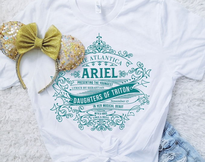 Daughters of Triton -  Little Mermaid Inspired Unisex Crew Neck Shirt - FREE SHIPPING