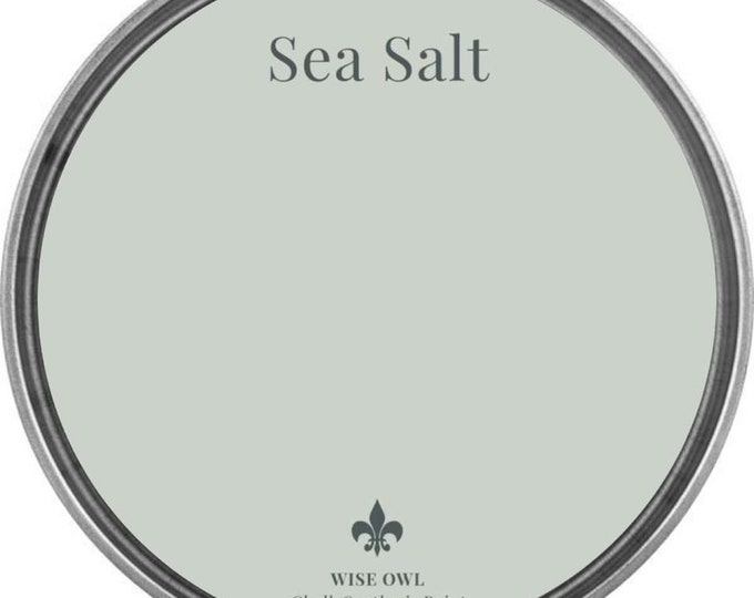 INTRO SALE - Sea Salt (Light Seafoam Gray) - Wise Owl Chalk Synthesis Paint - Free Shipping