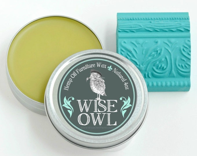INTRO SALE! Wise Owl Natural Hemp Oil Furniture Wax - Clear - Free Shipping - Free Shipping