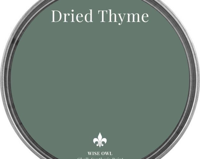 INTRO SALE - Dried Thyme (Dark Sage Green) - Wise Owl Chalk Synthesis Paint - Free Shipping