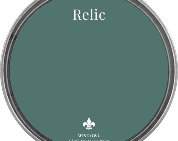 INTRO SALE - Relic (Medium Green Blue) - Wise Owl Chalk Synthesis Paint - Free Shipping