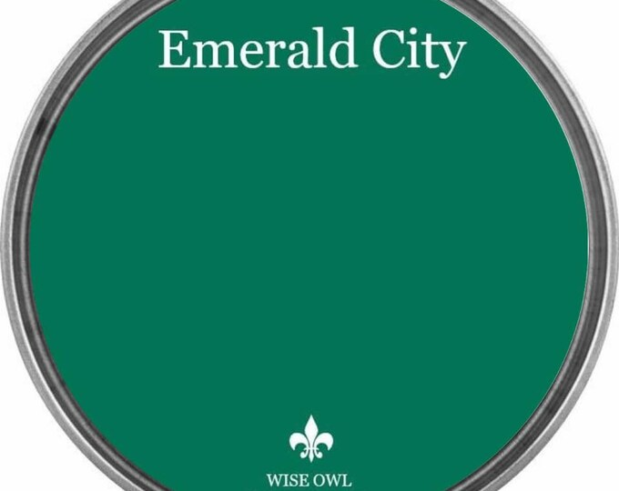 INTRO SALE - Emerald City (Emerald Green) - Wise Owl Chalk Synthesis Paint - Free Shipping