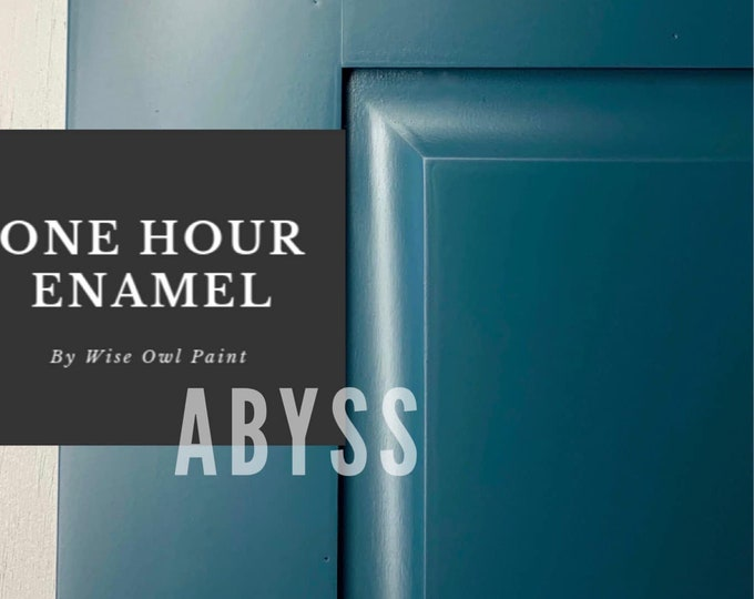 INTRO SALE! Abyss (Dark Blue-Green) Wise Owl One Hour Enamel Paint - Free Shipping