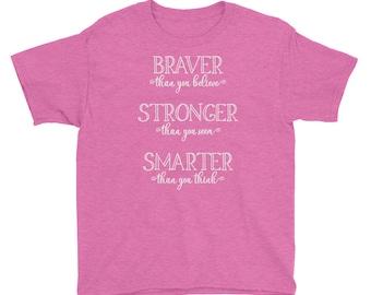 Great Adventure - Pooh Inspired Pink Kids Crew Neck