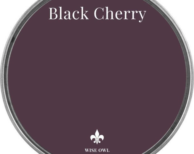 INTRO SALE - Black Cherry (Deep Red or Plum) - Wise Owl Chalk Synthesis Paint - Free Shipping
