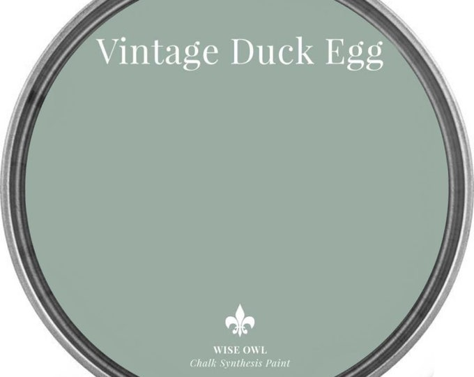 INTRO SALE - Vintage Duck Egg (Gray Blue-Green) - Wise Owl Chalk Synthesis Paint - Free Shipping