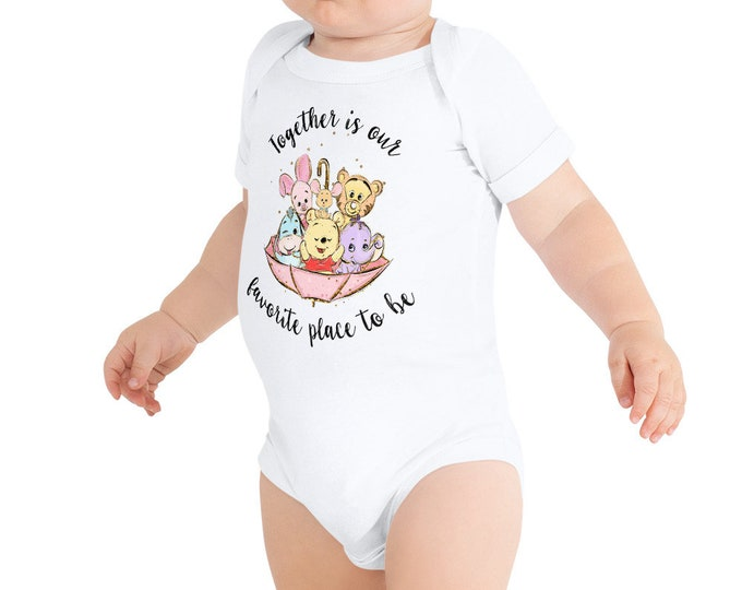 Together is Our Favorite Place - Pooh Inspired Baby Bodysuit One Piece - FREE SHIPPING