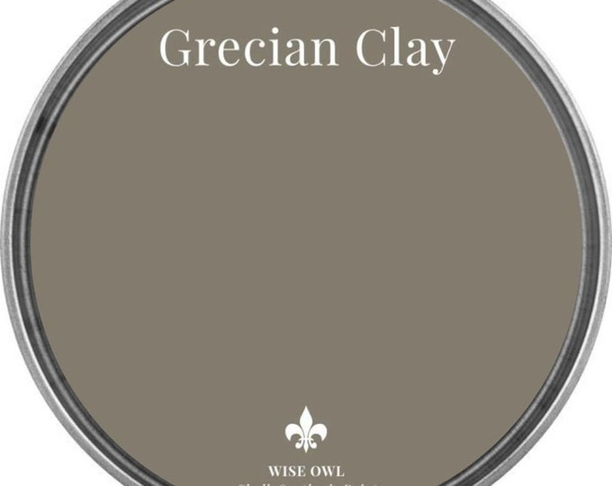 INTRO SALE - Grecian Clay (Dark Gray Beige) - Wise Owl Chalk Synthesis Paint - Free Shipping