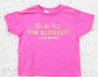 Feel the Rush - TODDLER Vanellope von Schweetz and Wreck it Ralph Racing Inspired T-Shirt