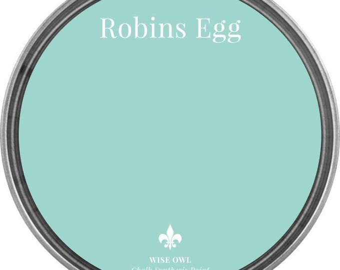INTRO SALE - Robins Egg (Bright Pale Blue) - Wise Owl Chalk Synthesis Paint - Free Shipping