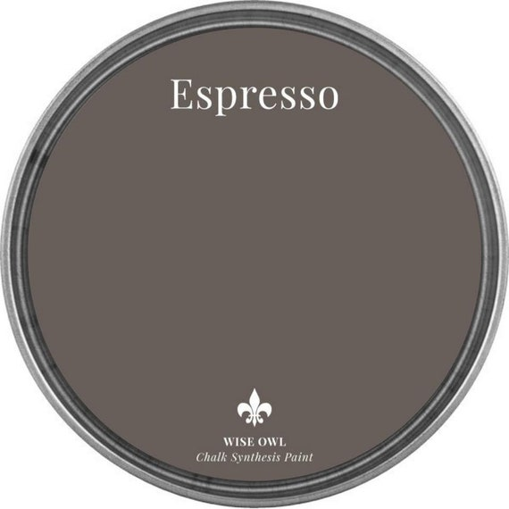 Espresso (Warm Dark Brown) - Wise Owl Chalk Synthesis Paint - FREE SHIPPING