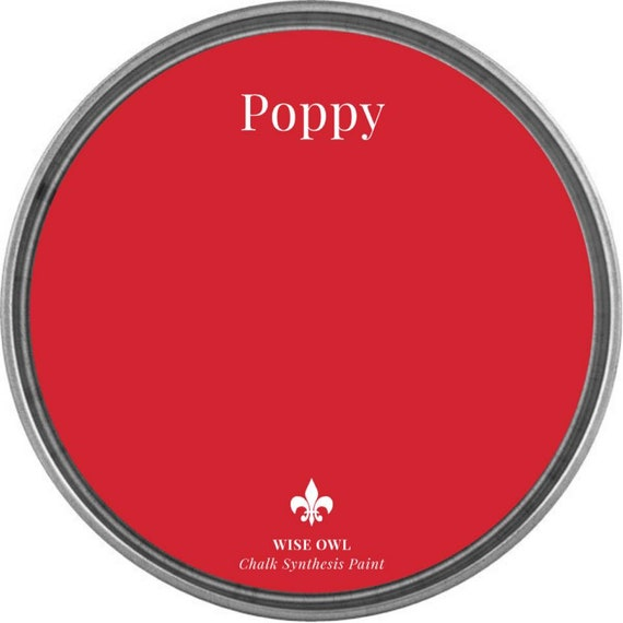 INTRO SALE - Poppy (Bright Red) - Wise Owl Chalk Synthesis Paint - low flat shipping