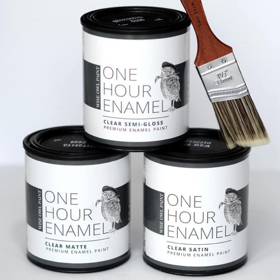 NEW! Wise Own Clear One Hour Enamel - Semi Gloss, Satin, Matte