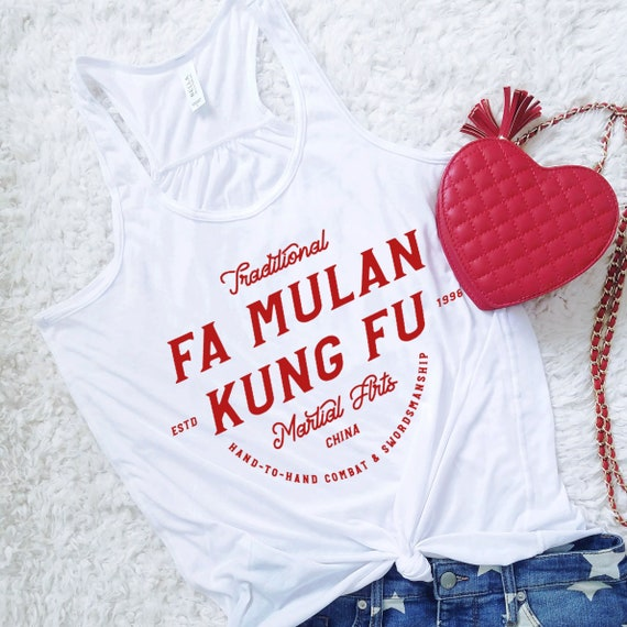 Fa Mulan Kung Fu - Disney Princess Inspired Martial Arts - Red Flowy Tank Top - FREE SHIPPING