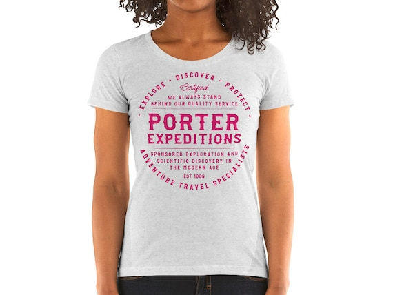 SALE - Porter Expeditions - Ladies Triblend Heather Gray Scoop Neck - Medium