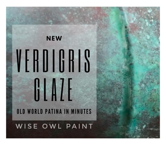 New Color! - Verdigris Glaze - Wise Owl Glaze - FREE SHIPPING